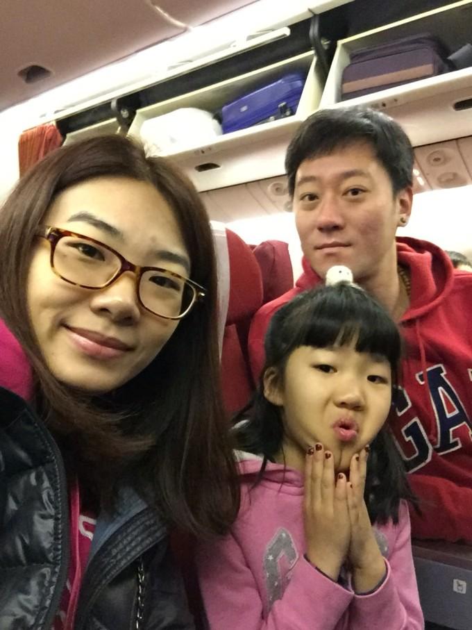 孩子虽不是第一次坐飞机