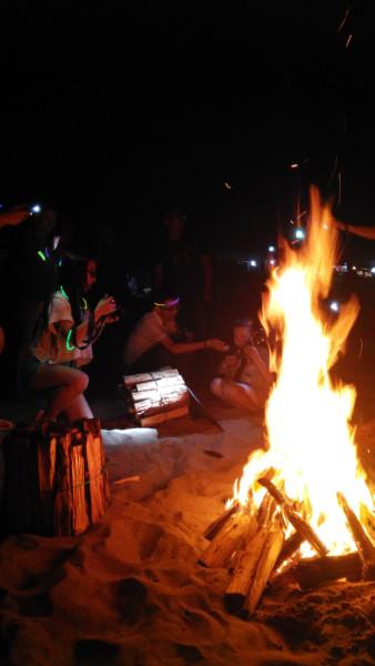 鹤浦---沙滩露营,篝火晚会