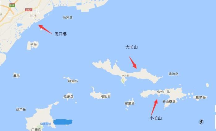 大连长海 大长山岛跟小长山岛离着很近吗
