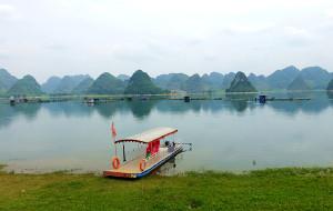 【百色图片】靖西:路边免费的瀑布?不收门票的湖泊峰林?毗邻越南的山水边城?