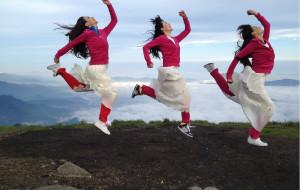 【江西图片】三个女生的武功看日出,泡天沐分享之旅