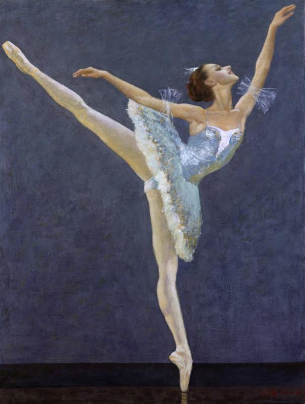 张德瑞先生另一喜爱的题材是芭蕾舞系列.