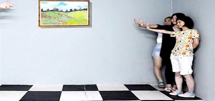瞳艺哈尔滨4D错觉艺术馆3D画展体感游戏节