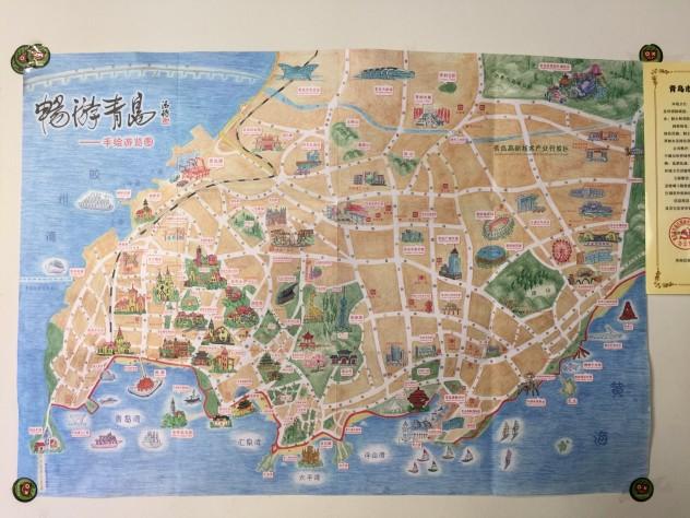 舍友旅游,想要青岛旅游景点的地图,计划周全,才能玩的
