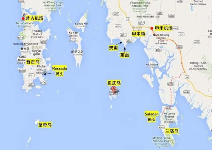 甲米地理位置介绍 甲米在泰国的南部.