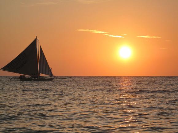 【海上日落】菲律宾长滩岛水上活动-日落帆船