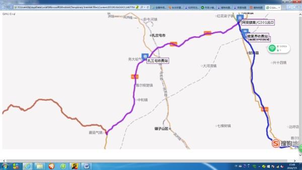 甘南风景区地图示意图