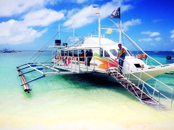 普卡沙滩是长滩岛第二大海滩,也是梁静茹拍摄婚纱照的地点位于长滩岛