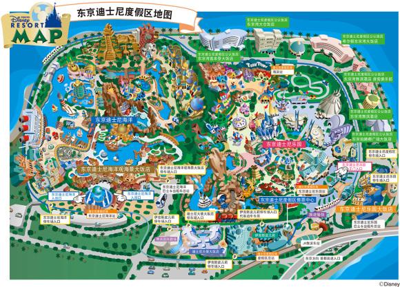 东京迪士尼度假区地图(可点击本段下载放大版本)