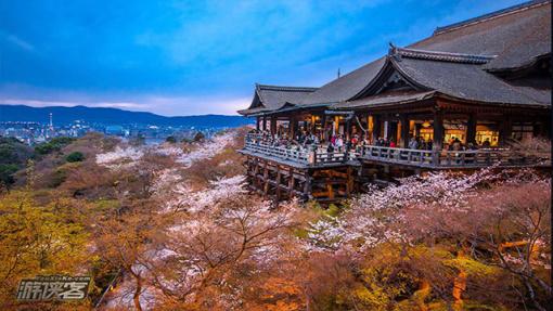 日本奈良著名寺院风景照片