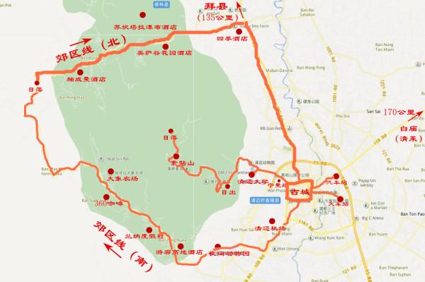 清迈景点地图中文版