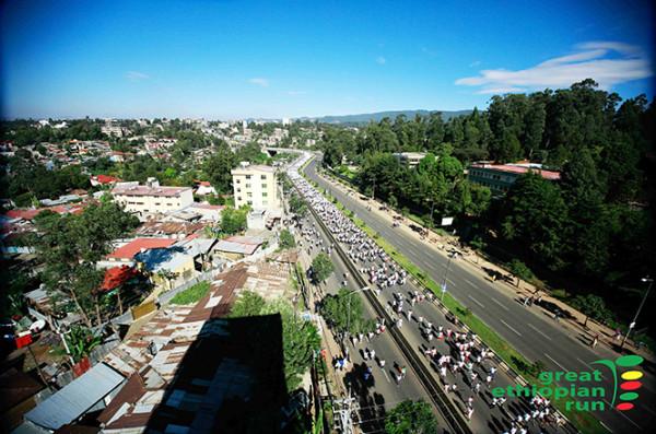 在埃塞俄比亞跑步