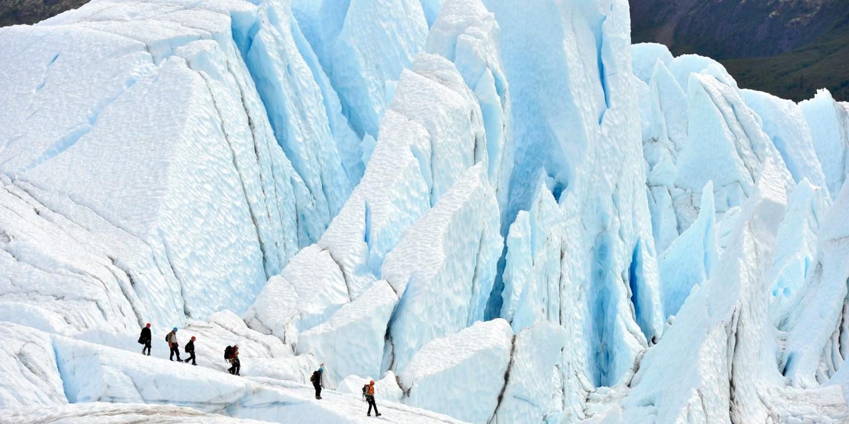 阿拉斯加冰川徒步,亲自踏足这片外太空的幽蓝空间_图4