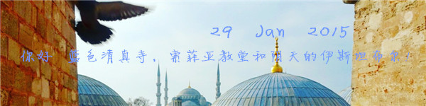 29 Jan 2015 你好 蓝色清真寺,索菲亚教堂和阴天的伊斯坦布尔!