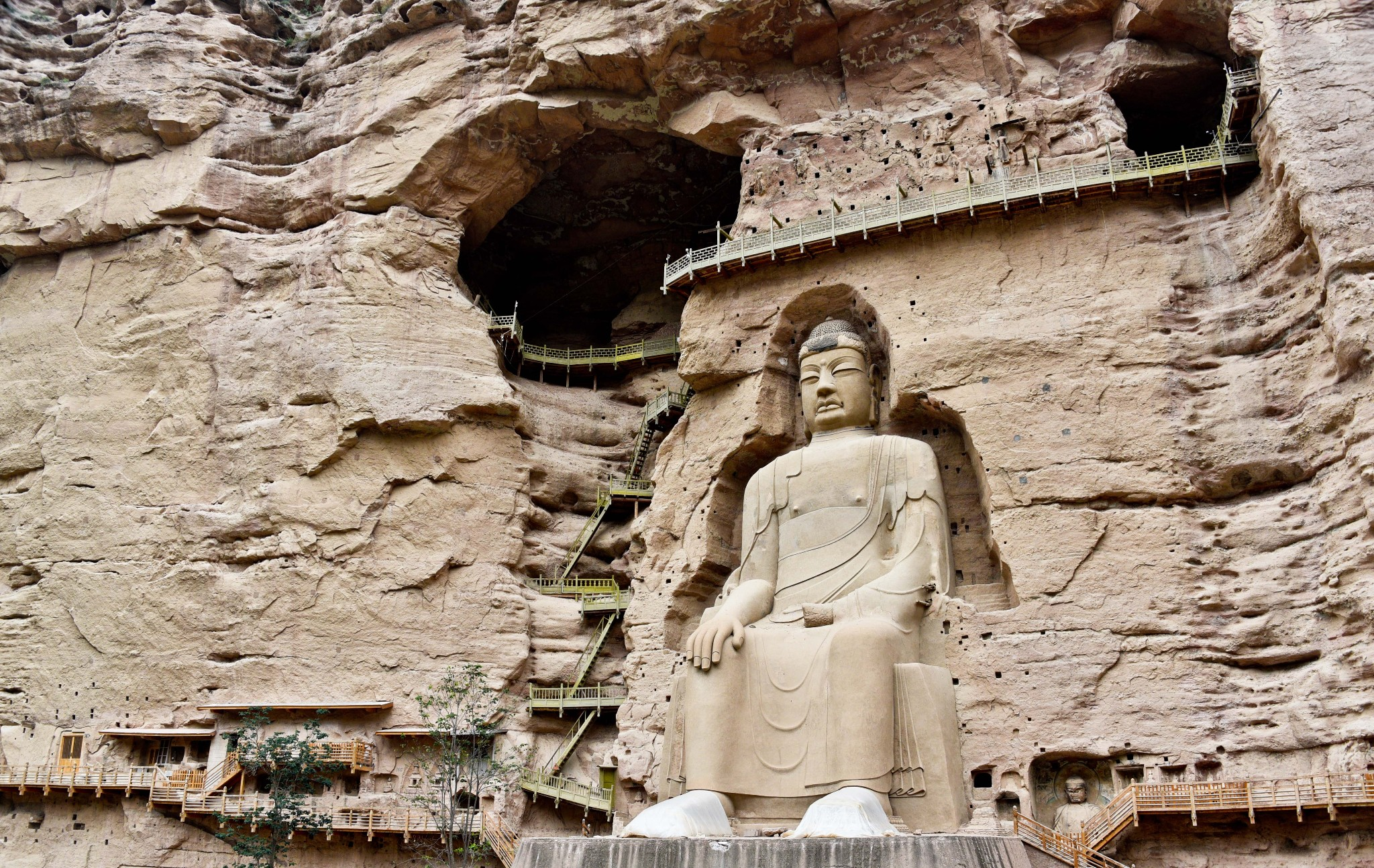 Gansu bingling temple grottoes